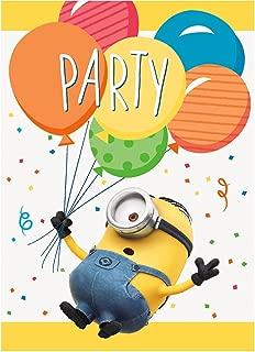 Unique Despicable Me Party Invitations, 1 Pack
