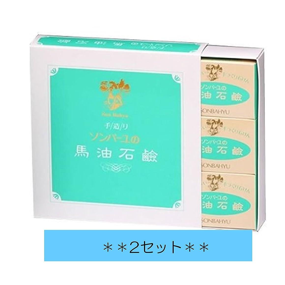 残高の前で学習者【2箱セット】ソンバーユ石鹸 85g×6個