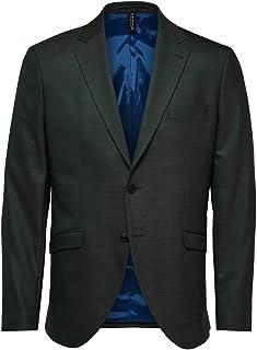 Selected Men's Slhslim-mylostate Flex Green BLZ B Noos Blazer
