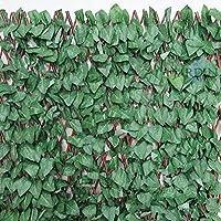 CELOSIA JARDIN de mimbre con hojas de arce, 1 x 2 metros