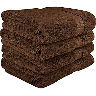 Utopia Towels 700 GSM Premium Brown Bath Towels Set - Pack of 4 - (27x54 Inches) - 100% Ring-Spun Cotton Towels for Home, Hotel and Spa – Brown Towels Set with Maximum Softness and High Absorbency by