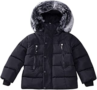 c95e687a1334 Baby Boys Girls Hooded Snowsuit Winter Warm Fur Collar Hooded Down  Windproof Jacket Outerwear