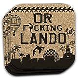 ORLANDO Florida FL Souvenir 4pc Coaster Gift Set