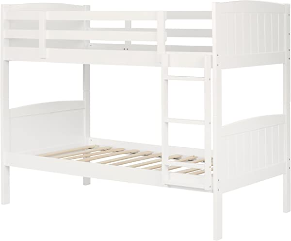 South Shore 11840 Savannah Solid Wood Bunk Beds Twin Pure White