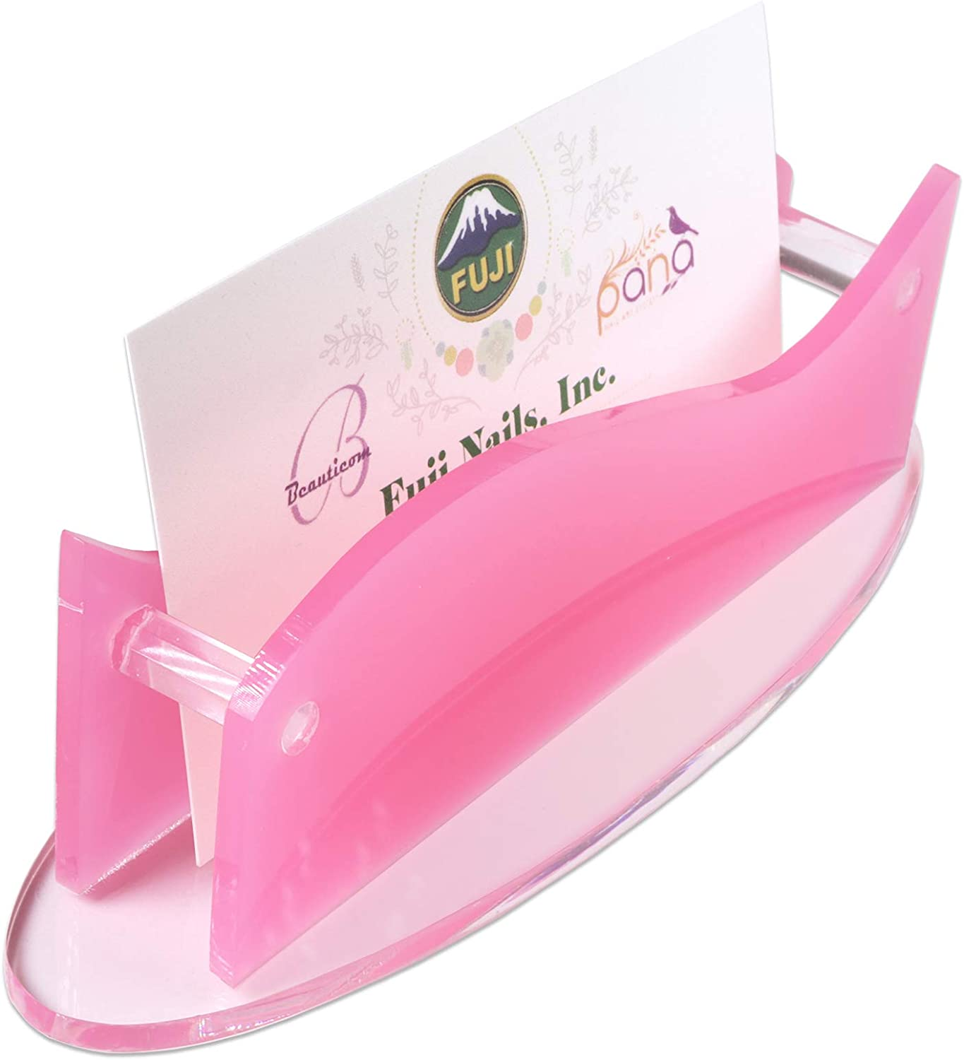 Beauticom Oval Lovely Import Pink Thick Genuine Free Shipping Holder Card Business Acrylic Of