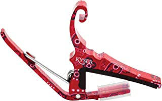 Kyser Quick-Change Capo for 6-string acoustic guitars – Red Bandana