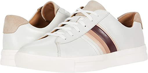 White/Blush Leather/Suede Combi