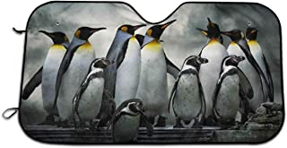 Penguins Family Car Windshield Sun Shade Window Windscreen Cover Universal Fit Car UV Ray Sun and Heat Visor Protection
