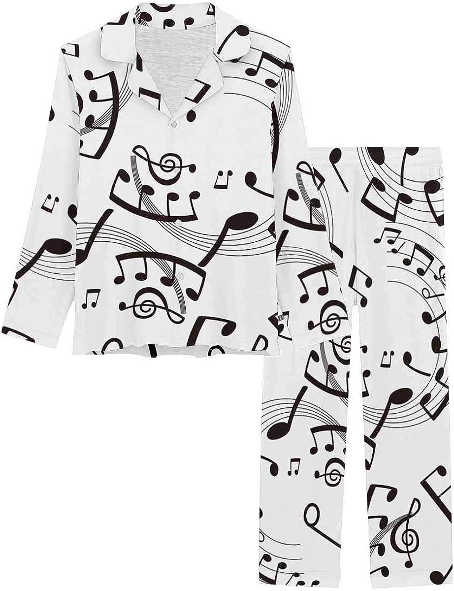 InterestPrint Women's Pajamas 2021new Popularity shipping free Set Long with Pants Sleeve XS