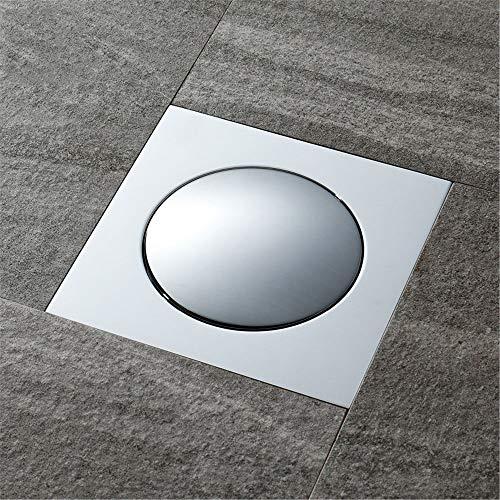 PIJN Bodenablauf Insektenschutz Anti-Rückstau Bouncing Deodorant All-Kupfer Bodenablauf Badezimmer Bodenablauf (Color : Metallic, Size : 100x100x55mm)