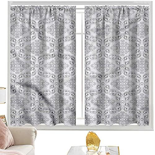 Cortinas grises, estilo victoriano de la regencia azulejos de 100 cm de ancho x 63 cm de largo