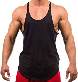 Iwearit Brand Y-Back Muscle Tanktop Straight Bottom - Made in USA