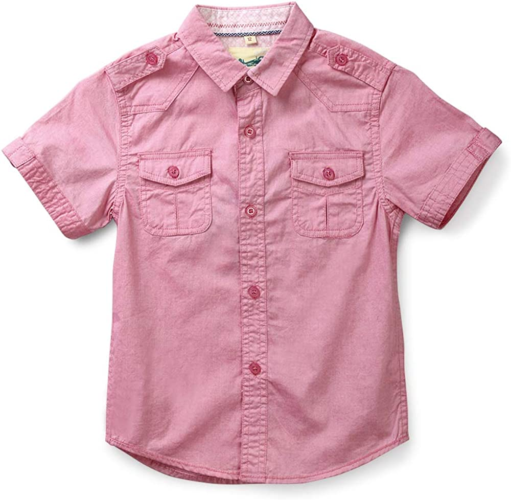 Boys' Short Sleeve Cotton Shirt