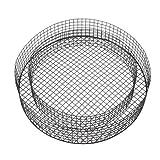 bellissa Hochwertige Kreis-Gitter Form H8 Ø 38 x 8 cm als Grabschmuck wetterfest für Friedhof oder Garten-Deko fürs Beet