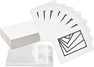 Pack of 32 8x10 WHITE/BLACK Double Mats Mattes for 5x7 photo with White Core Bevel Cut + Backing + Bags