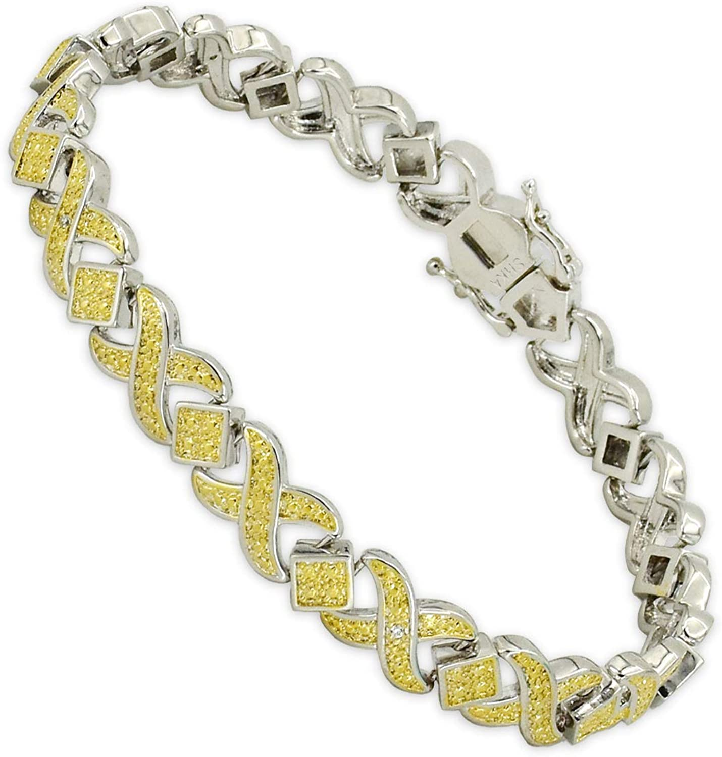 SHKA Sale Special Price 18k Gold Plated XOXO Tennis Max 71% OFF Bracelet Accent with Li Diamond