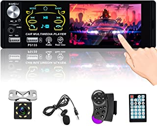 """$53 » Single Din Bluetooth Car Stereo 4.1"""" Touchscreen Radio FM Receiver with Dual USB AUX-in SD Card Subwoofer Output Support S..."""