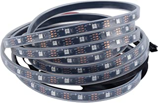 CHINLY 16.4ft WS2812B Individually Addressable LED Strip Light 5050 RGB SMD 150 Pixels Dream Color Waterproof IP67 Black PCB 5V DC (Black PCB 16.4ft 150leds Waterproof)