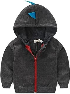 Baby Boys Long Sleeve Dinosaur Jacket Clothes Toddler Zip-up Hoodies Sweatshirt