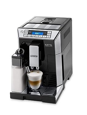 De'Longhi Eletta Cappuccino ECAM 45.766.B Kaffeevollautomat mit Milchsystem, Cappuccino und Espresso auf Knopfdruck, Digitaldisplay mit Klartext, 2-Tassen-Funktion, schwarz