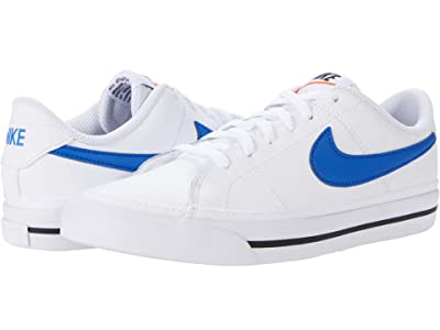 Nike Kids Court Legacy (Big Kid) (White/Game Royal/Black) Kid
