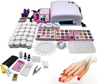 Kit de Uñas Manicura, Set de Herramientas de Uñas con 36W Lámpara Secador, Juegos de Uñas de Gel UV