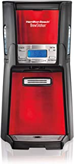Hamilton Beach BrewStation 12-Cup Dispensing Coffeemaker, 48466-MX, Candy Apple Red / Brew multiple cups of coffee and dispense 1 fresh cup at a time