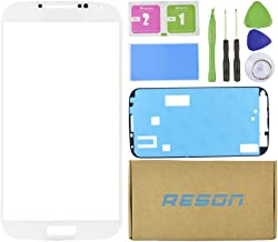 Reson® White Front Screen Lens Glass Replacement Kit for Samsung Galaxy S4 SIV I9500 I337 L720 M919 I545+tools Kit+dry/wet/dust Cleaning Paper+adhesive Sticker Tape