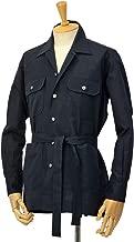 [ORIAN【オリアン】]ベルテッドサファリシャツジャケット LARMY U323 90 リネンコットン ブラック