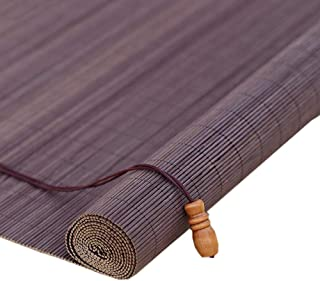 Jcnfa-Roller Shades Bamboo Roll Up Shades Window Roller Blinds, Lift Hook Type, Partition Shutters, for Indoor/Outdoor (Color : Purple, Size : W 85H 160cm)