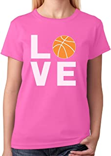 TeeStars - Love Basketball - Gift Idea for Basketball Fans Cool Women T-Shirt