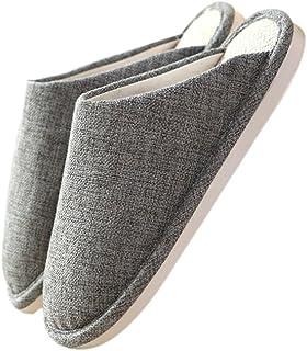 TELLW Lin Sueur d'aspiration Anti-Odeur ¨¦t¨¦ Printemps Automne Hiver Linge de Maison Chaussures Cool Sandales Couples in...