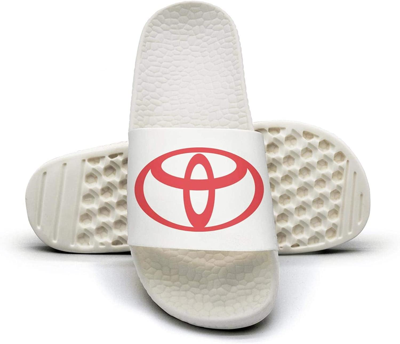 EIGKASL Printed Non-Slip Slippers Slides flip Flop Sandals Toyota-Symbol-red-Logo-Emblem-Summer Casual for Womens