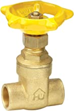 ProChannel VGTCMPA7PA Gate Valve with 200 PSI Brass Compression X Compression, 1-1/2-Inch