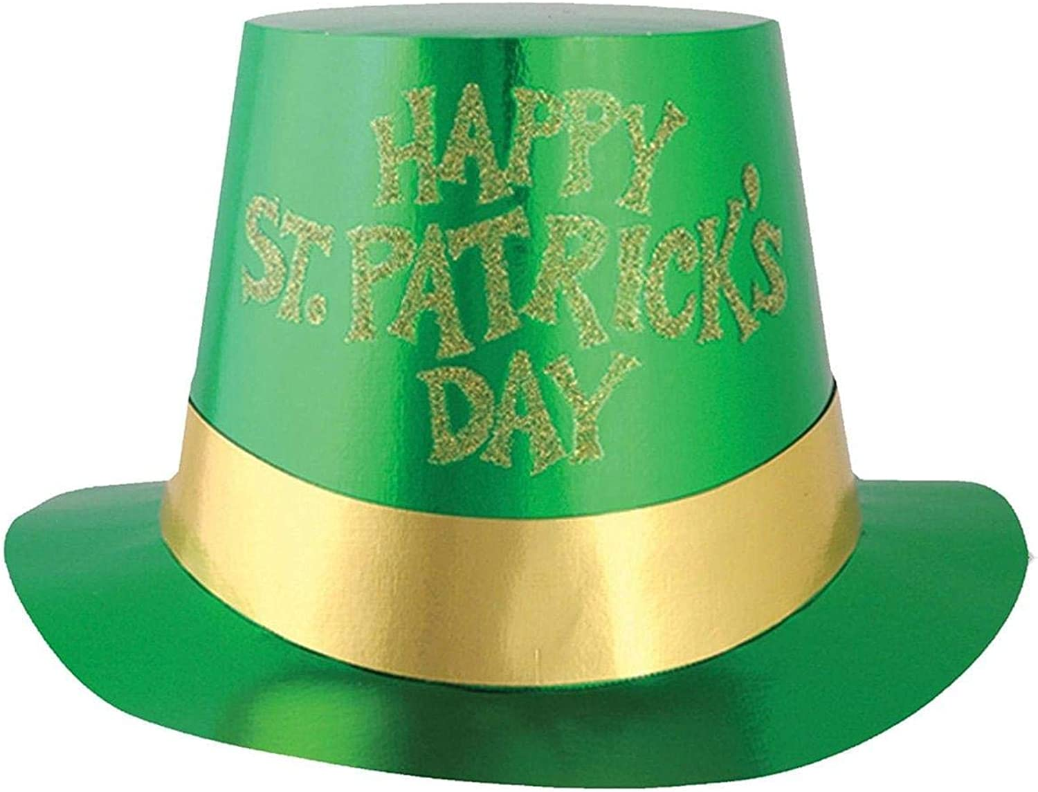 Beistle - 33620-C25 - Glittered St Patricks Day Foil Hi-Hat - Pack of 25