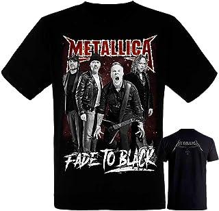 Metallica-Band- Grupo - Camiseta Negra Hombre Manga Corta - Metallica Tshirt