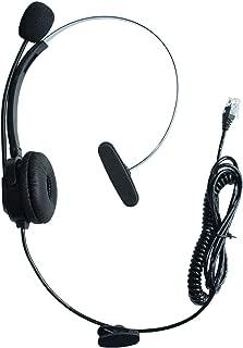 GoodQbuy Call Center Telephone /IP Phone Headset with Adjustable Boom Mic 4-pin RJ9 Modular Connector for 3Com Aastra Alcatel-Lucent AltiGen Ascom AVAYA Cable & Wireless Cisco (CIS) Comdial Commander Doro/Audioline Ericsson ESI