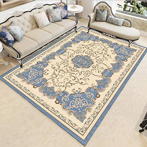 Tyueliang-Decoration Teppich Polyester Bereich Teppich Bodenmatte Bettvorleger European Style Wohnkultur Teppich for Entryway studyroom Schlafzimmer Wohnzimmer Bereich Teppich Wohn-Esszimmer Teppich