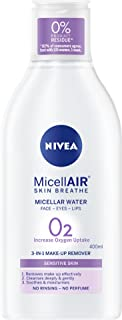 NIVEA MicellAIR Micellar Water Cleansing 3-In-1 Make Up Remover for Sensitive Skin 400ml