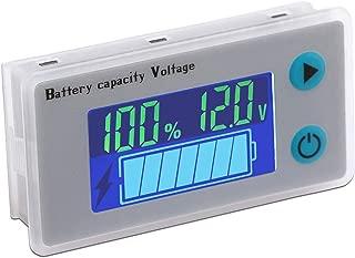 Battery Status Indicator, DROK 12V Voltmeter Battery Capacity Monitor Temperature Display Meter Panel 10-100V 24V 36V 48V Digital Battery Voltage Tester Remaining Electric Quantity Percentage Detector