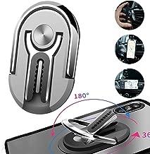 LuckyKilig Multipurpose Mobile Phone Bracket Holder Stand, Phone Ring Holder, 360 Degree Rotation Cellphone Mount, Multiple-Angle Car Phone Mount for Car Home Gray