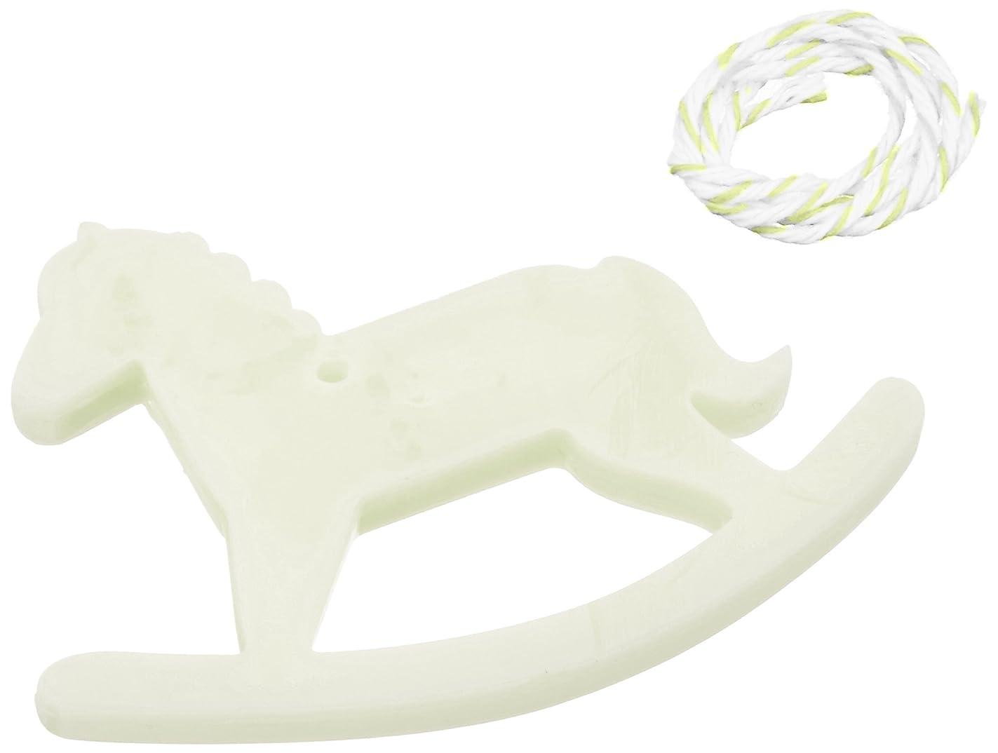 にんじん腐食するブラザーGRASSE TOKYO AROMATICWAXチャーム「木馬」(GR) レモングラス アロマティックワックス グラーストウキョウ