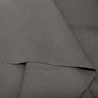 Baumwollstoff Segeltuch mittelschwer - Polsterstoff/Möbelstoff als Meterware am Stück Dunkel-Grau