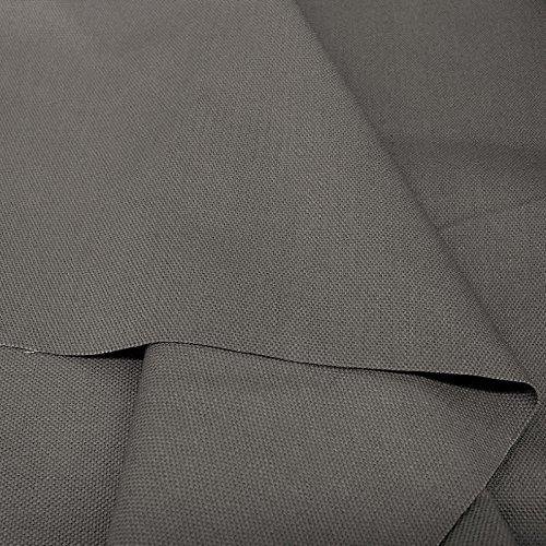 Baumwollstoff Segeltuch mittelschwer - Polsterstoff/Möbelstoff als Meterware am Stück (Dunkel-Grau)