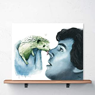 Detective Hedgehog Print Benedict Cumberbatch Art Johnlock Sherlock and Hedgehog