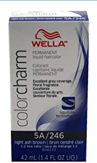 Wella Color Charm Permanent Liquid Hair Color 5A/246-LIGHT ASH BROWN