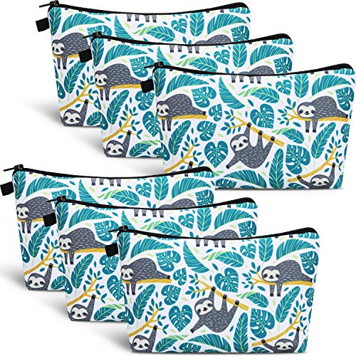 6 Pieces Makeup Bag Toiletry Pouch Waterproof Cosmetic Bag with Zipper Travel Packing Bag 8.7 x 5.3...