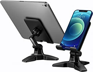 Cell Phone Tablet Stand, Stable Cell Phone Stand Holder for Desk, 360° Adjustable Cell Phone Holder Cradle Dock, Case-Frie...