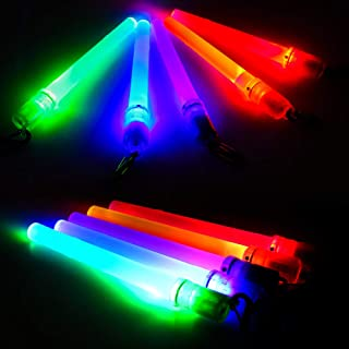 LED Glow Sticks Mini Flashlights Reusable with 1 Modes, Kids,10-packs Assorted Colors Light Up Toys Bulk Party Favors Perfect for Concert, Birthday Party, Festivals Decoration Wedding