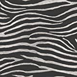 Tropiques Serengeti Zebra Imprimer–Noir–Papier Peint Art House 670300